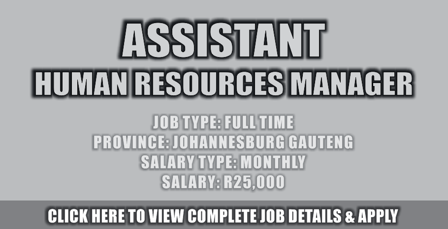 ASSISTANT HUMAN RESOURCE MANAGER