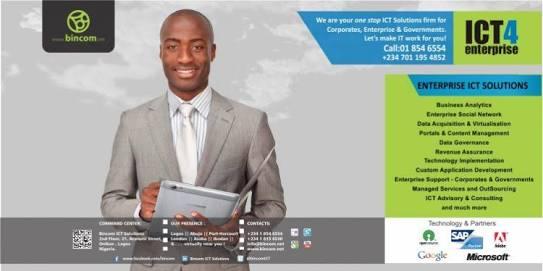 Bincom ICT Solutions Corporation Fresh Job Vacancies