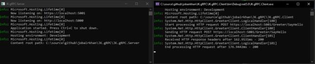 ASP.NET API running on kestrel