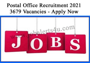 Post Office Recruitment 2021