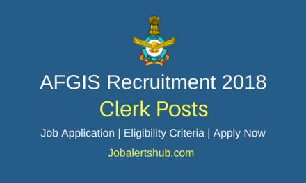 Air Force Group Insurance Society (AFGIS) 2018 Junior Clerk Posts – 03 Vacancies   Graduation   Apply Now