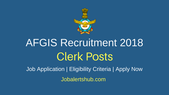 Air Force Group Insurance Society (AFGIS) 2018 Junior Clerk Posts – 03 Vacancies | Graduation | Apply Now