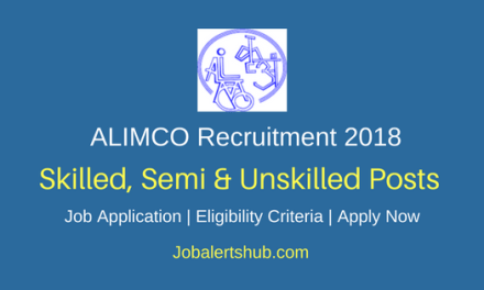 Artificial Limbs Manufacturing Corporation of India 2018 Skilled, Semi & Unskilled Category Posts – 28 Vacancies   10th, ITI  Apply Now