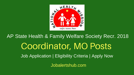 Andhra Pradesh State Health & Family Welfare Society 2018 Coordinator, MO & Other Posts – 06 Vacancies   Diploma, Degree, MBBS, MD   Apply Now