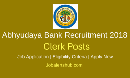 Abhyudaya Bank 2018 Clerk Posts – 100 Vacancies | Any Degree | Apply Now