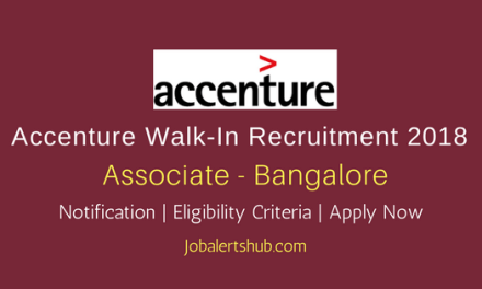 Accenture Walk-In Bangalore2018 Associate Jobs -90 Vacancies | Non-Technical Graduates| Walkin: 2nd APRIL '18
