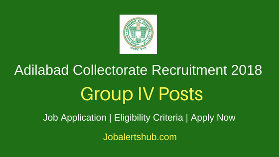 Adilabad District Collectorate 2018 Recruitment Backlog Group IV SC/ST Junior Assistants & Typist Posts – 11 Vacancies | Degree | Apply Now
