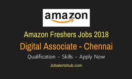 Amazon Freshers Digital Associate 2018 Vacancies | Chennai | Graduation | Apply Now