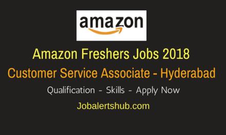 Amazon Freshers Recruitment 2018 | Customer Service Associate | 12th | Apply Now