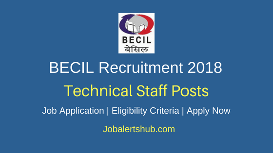 Broadcast Engineering Consultants India Limited (BECIL) Bangalore 2018 Technical Staff Posts | ITI, Diploma, Graduate | Walkin