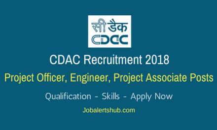 CDAC Hyderabad 2018 Project Officer, Engineer, Project Associate Posts – 13 Vacancies   Degree, PG   Apply Now