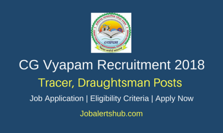 CG Vyapam 2018 Tracer, Draughtsman Posts – 99 Vacancies | Graduation | Apply Now