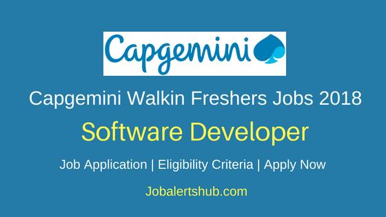 Capgemini Software Developer Freshers Jobs 2018 Hyderabad | Graduation/PG | Walkin: 9th June'18
