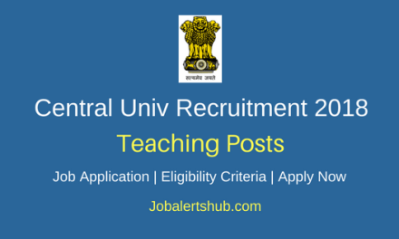 Central University of South Bihar (CUSB) 2018 Assistant Professor Posts – 38 Vacancies | Master Degree | Walkin