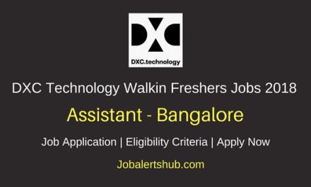 DXC Technology Bangalore Walkin 2018 Assistant BPS Jobs   Graduation   Walk-In: 12th – 15th June'18