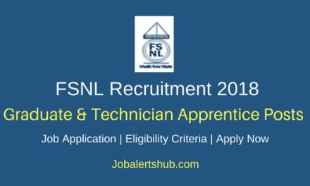 Ferro Scrap Nigam Limited 2018 Graduate & Technician Apprentice Posts – 06 Vacancies | Diploma, B.Tech | Apply Now
