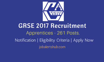 GRSE 2017 Recruitment   Apprentices – 261 Vacancies   10th/ITI/Diploma/Degree   Apply Now