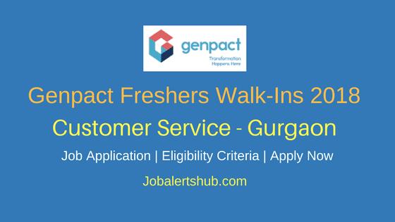 Genpact Walk-In Customer Service Freshers Jobs 2018 – 20 Vacancies | Degree/PG | Gurgaon | Apply Now