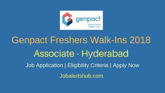 Genpact Freshers Walk-in 2018 In Hyderabad | Associate | Graduation | Walk-In: 5-8th Feb'18