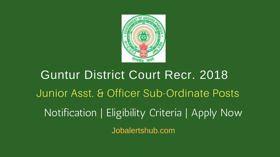 Guntur District Court Junior Asst. & Office Sub-Ordinate Jobs – 94 Vacancies   7th Class, 10+2   Apply Now