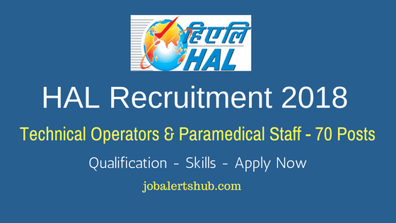HAL Technical Operators & Paramedical Staff Recruitment – 70 Vacancies | ITI/Degree | Apply Now