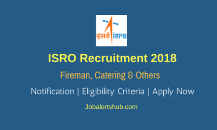 ISRO SDSC SHAR Recruitment For Fireman, Catering & Others – 33 Vacancies   10th/Graduation   Apply Now