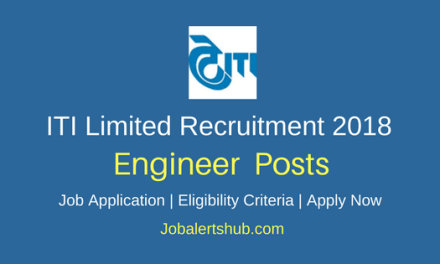 ITI Limited 2018 Contract Engineer Posts | B.Tech + GATE Score| Apply Now