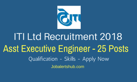 ITI Ltd Bengaluru Recruitment 2018   Asst Executive Engineer – 25 Vacancies   B.Tech   Apply Now
