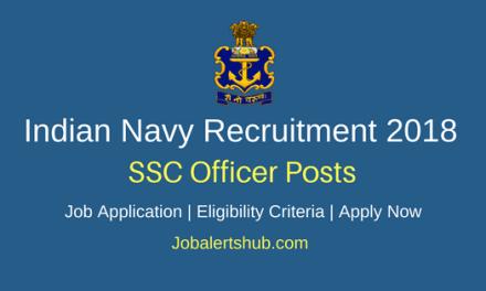 Indian Navy Recruitment 2018 SSC Officer – 19 Posts   12th, B.Tech   Apply Now