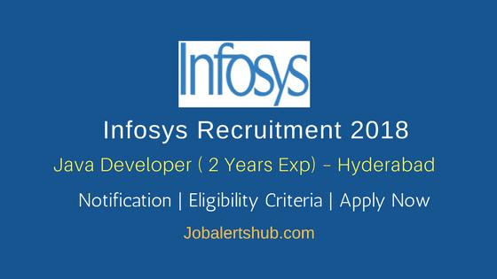 Infosys Recruitment 2018   Java Developer   Graduation/PG   Chennai, Hyderabad, Pune, Trivandrum   Apply Now