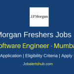 JP Morgan Chase Mumbai Software Engineer 2018 Jobs | Graduate/PG | Apply Now