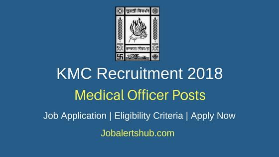 Kolkata Municipal Corporation 2018 Medical Officer Posts – 30 Vacancies | MBBS | Walkin: 12th April'18.
