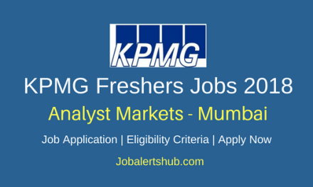 KPMG Mumbai 2018 Analyst Markets Jobs | Any Graduate | Apply Now