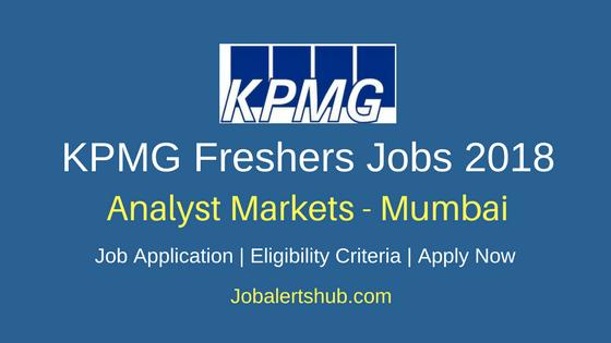 KPMG Mumbai 2018 Analyst Markets Jobs | Any Graduate | Apply Now