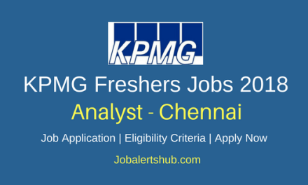 KPMG Chennai Analyst 2018 Jobs | Graduate | Apply Now