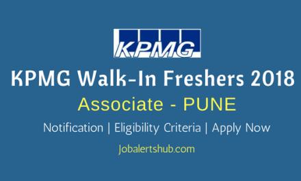 KPMG Walk-In For Freshers 2018 | Associate | Graduate | Pune | Apply Now