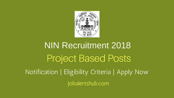 National Institute of Nutrition, Hyderabad 2018 PTO, Project Technician, MTS & Other Posts – 06 Vacancies   SSC/High School, 12th Class, Graduate & Master Degree   Apply Now