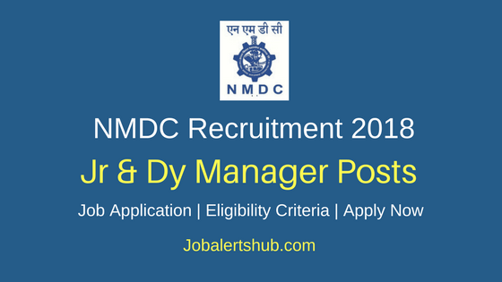 National Mineral Development Corporation 2018 Jr & Dy Manager Posts – 11 Vacancies | Diploma, Any Degree, MBA | Apply Now