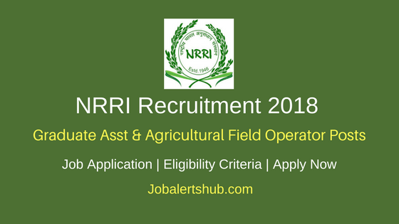 NRRI 2018 Graduate Asst & Agricultural Field Operator Posts – 08 Vacancies | 10th, ITI, Degree | Apply Now