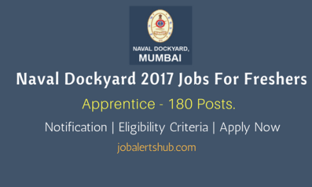 Naval Dockyard 2017 Recruitment   Apprentice – 180 Vacancies   8th/ 10th Class with ITI   Apply Now
