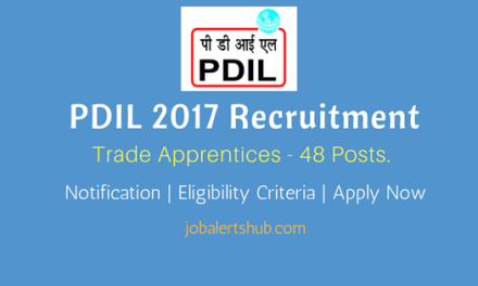 PDIL 2017 Recruitment   Trade Apprentices – 48 Vacancies   10th/12th/ITI   Apply Now