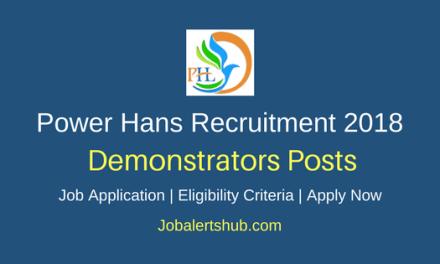 Power Hans 2018 Demonstrators Jobs – 06 Vacancies   Diploma   Apply Now