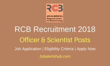 Regional Centre for Biotechnology (RCB) Faridabad 2018 Senior Technical Officer, Technical Assistant & Other Posts – 10 Vacancies | Degree, Master Degree, PG | Apply Now