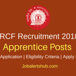 RCF Kapurthala 2018 Apprentice Posts – 195 Vacancies | 10th + ITI | Apply Now