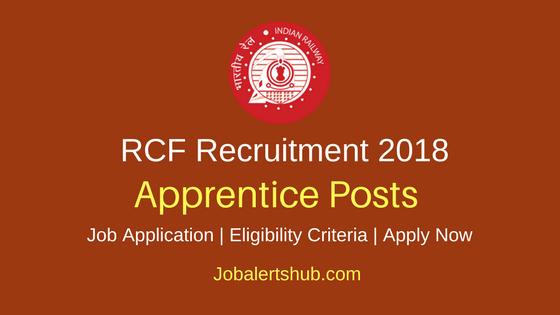 RCF Kapurthala 2018 Apprentice Posts – 195 Vacancies   10th + ITI   Apply Now
