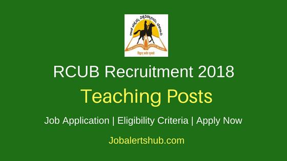 Rani Channamma University, Belagavi (RCUB) 2018 Guest Faculty Posts – 38 Vacancies | Master Degree/ PG | Walkin
