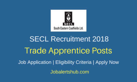 South Eastern Coalfields Limited 2018 Trade Apprentice Posts – 671 Vacancies | 8TH, 10TH, ITI | Apply Now