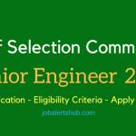 SSC Junior Engineer 2017 Recruitment