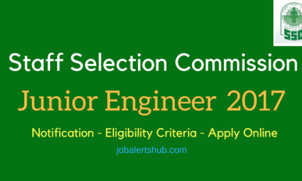 SSC Junior Engineer 2017 Recruitment