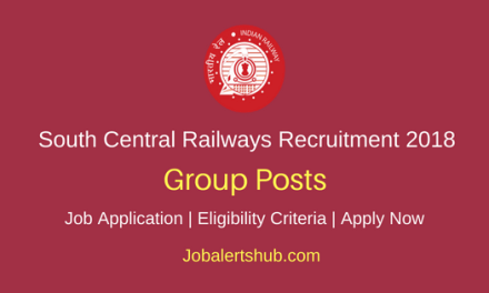 South Central Railway (SCR) 2018 Group C & D Posts in Scouts & Guides – 14 Vacancies | 10th + ITI, 12th | Apply Now